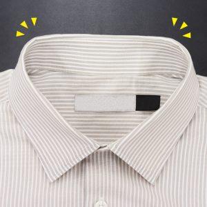 シャツの襟擦り切れ直し(アフター)